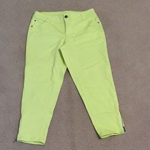 Lane Bryant lime green jeans size 14